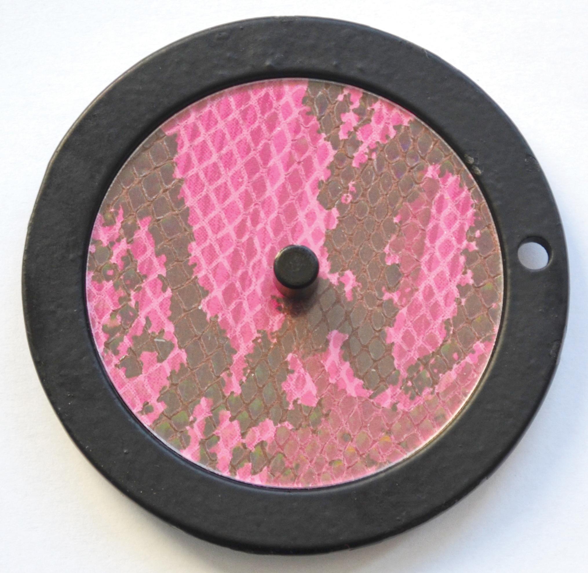 Leder-Schlange-pink