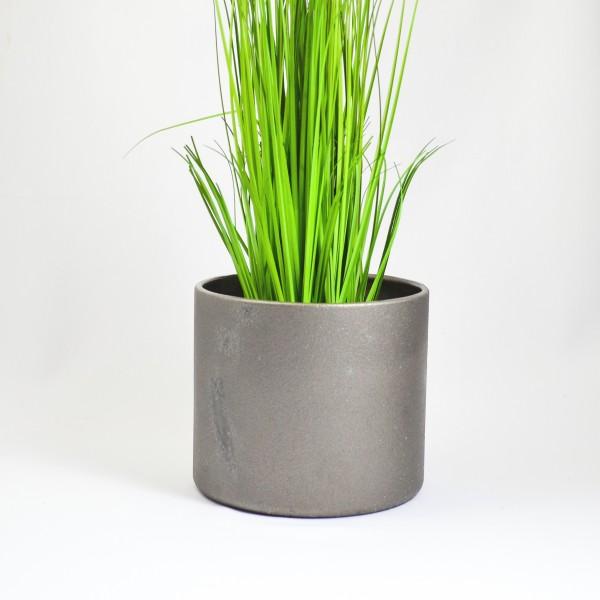 Blumenuebertopf Eisen silber