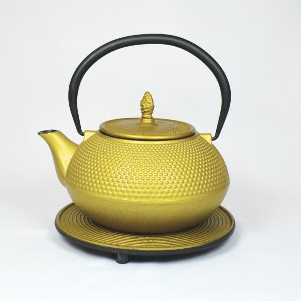 Basic 1.2l Teekanne Gusseisen goldfarben